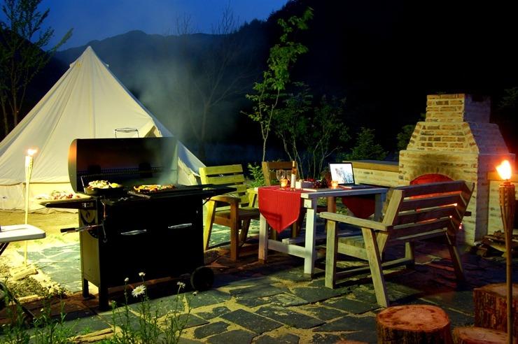 야외벽난로 바베큐장 오픈 & 수영장 오픈