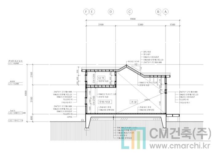 다락이 있는 99.55㎡(30평) 목조주택 건축공법의 예쁜 농가주택 ...