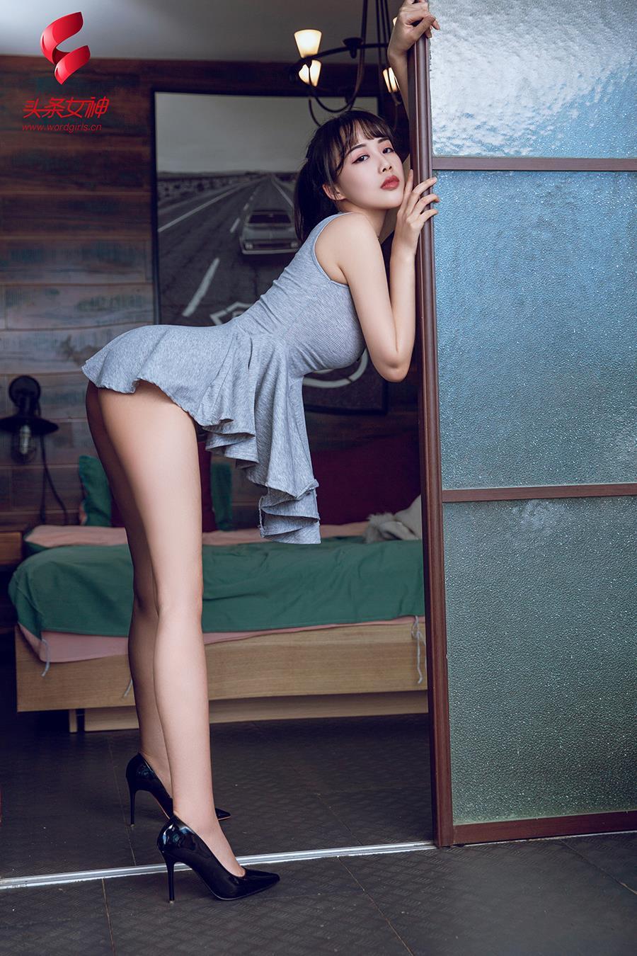 hot pose Chinese woman